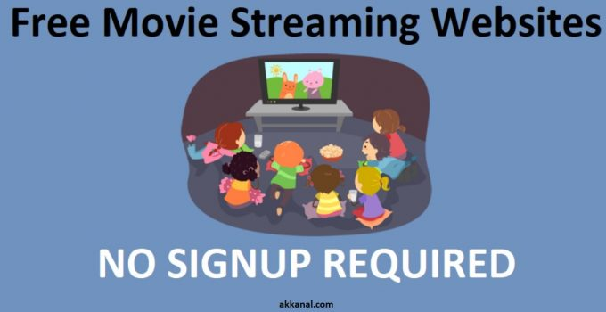 free movie streaming sites no signup required